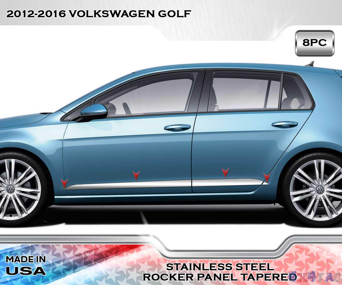 2021 Vw Golf R Rendering Is All About The Headlights: Stainless Steel TAPERED 3'' Wide Rocker Panel 8PC Fits