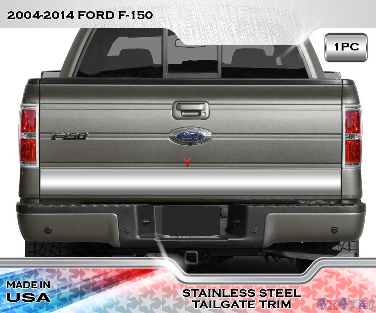 Stainless steel quot wide lower tailgate trim panel pc