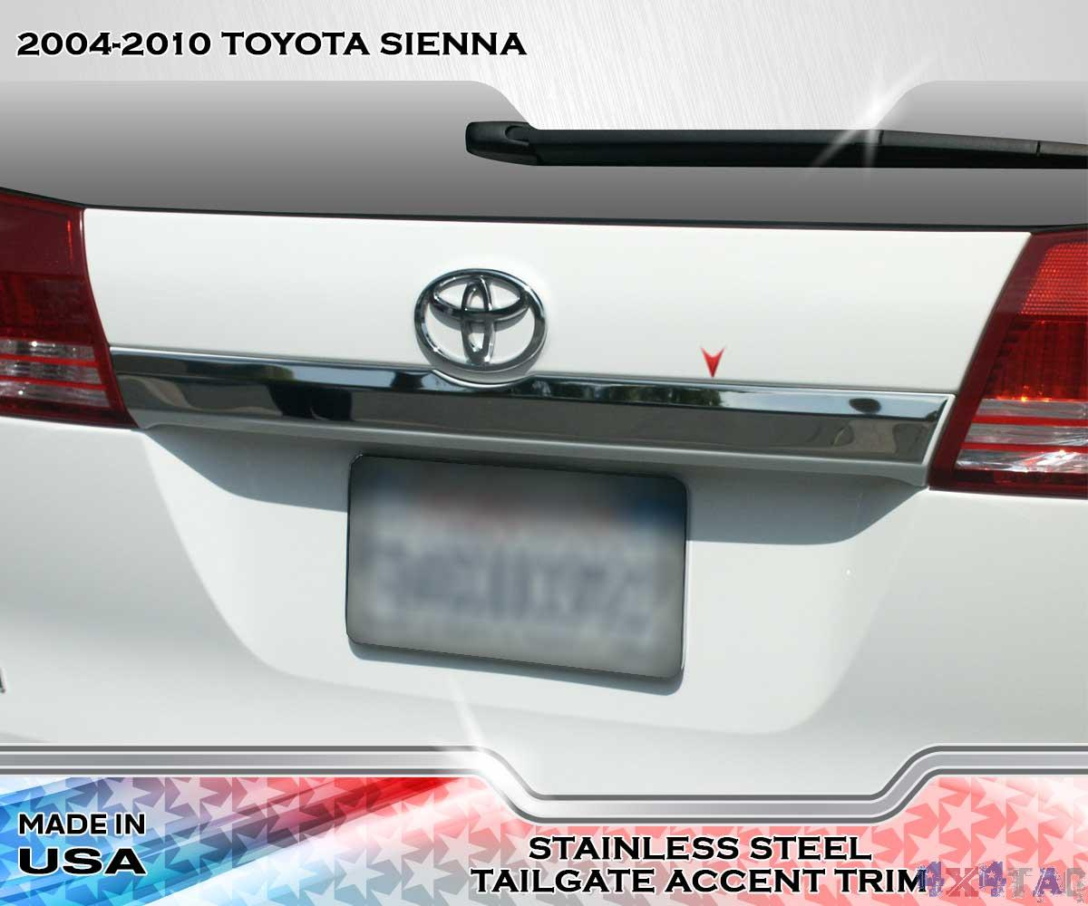stainless steel tailgate accent trim 1pc fits toyota sienna 04 10. Black Bedroom Furniture Sets. Home Design Ideas