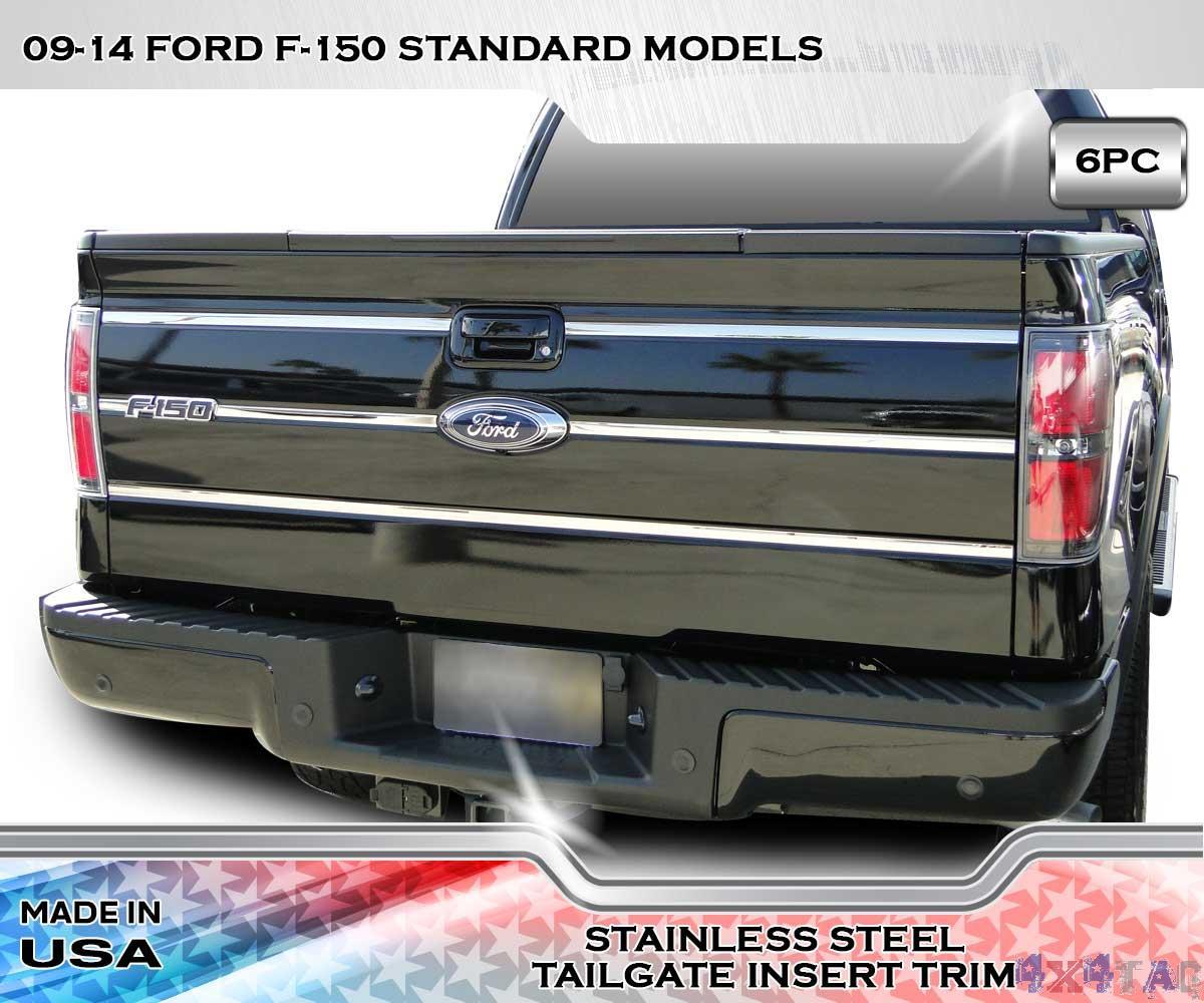 Stainless steel tailgate insert trim pc f xl xlt